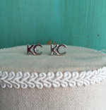 Pure silver plated KC earrings