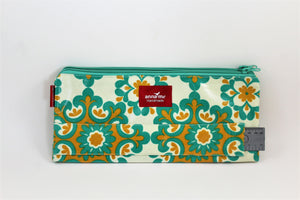 Green and Yellow Double Pencil Bag