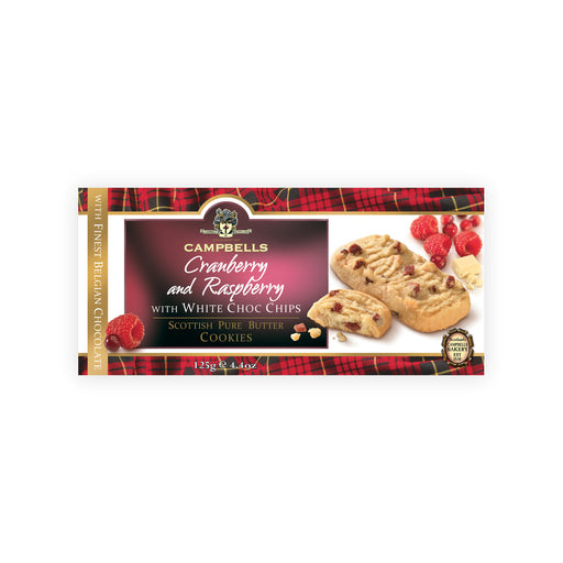 Cranberry and Raspberry with White Choco Chips Scottish Pure Butter Cookies