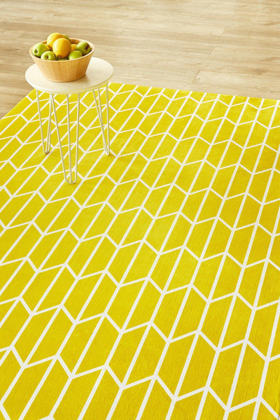 Geo Chevron Yellow-rugs-Airloom