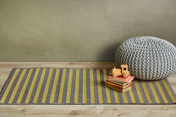 Jailbird Yellow Runner-rugs-Airloom