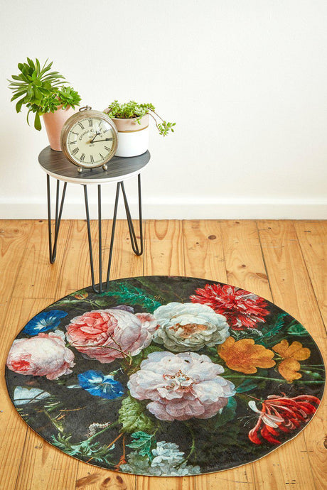 Old Masters Botanical Round-rugs-Airloom