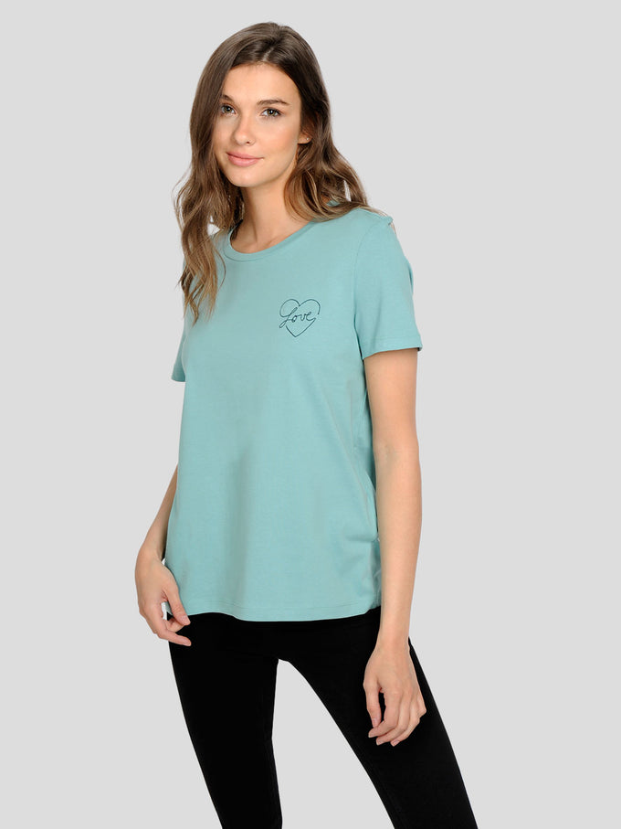EMBROIDERED T-SHIRT Wasabi