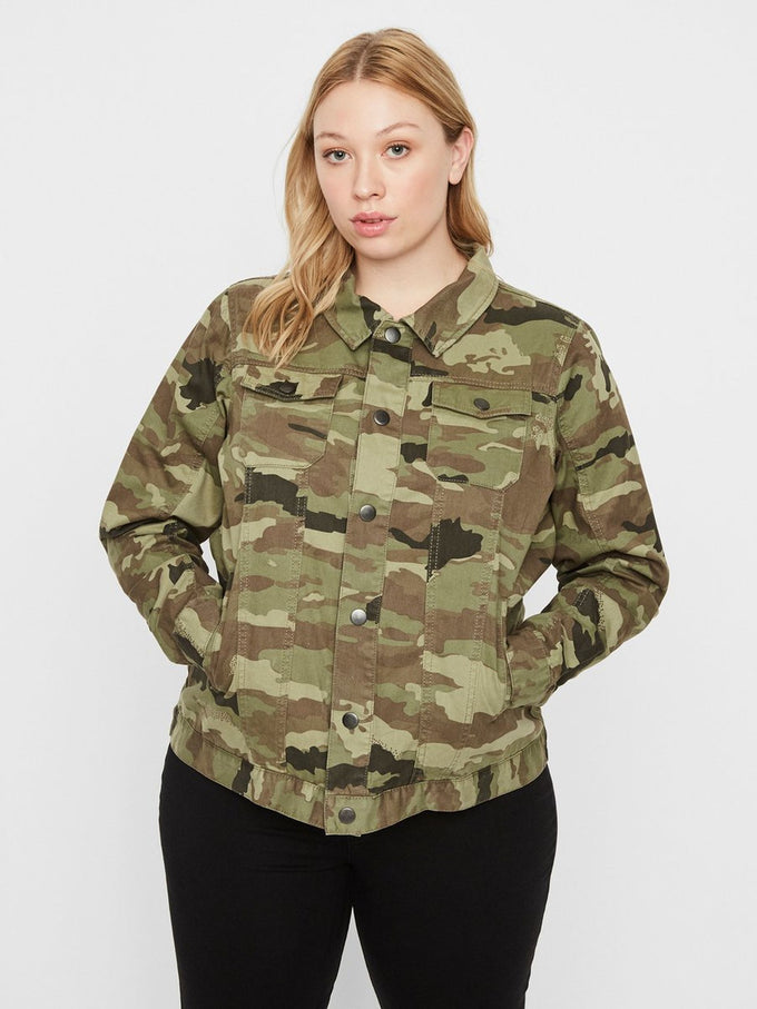 CAMO DENIM JACKET Ivy Green