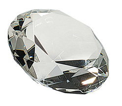 "4"" Diamond Crystal Paperweight"