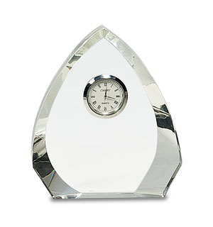 "5.5"" Arched Crystal Clock"