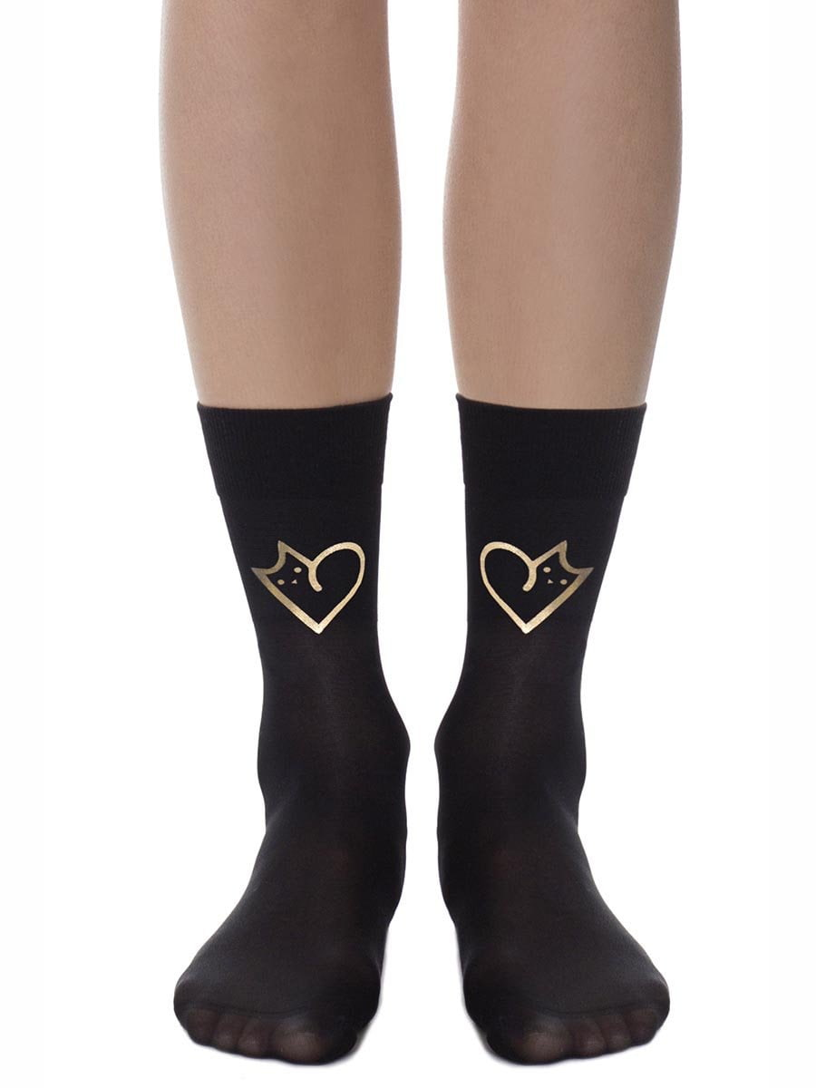 The Love Cat Golden Socks