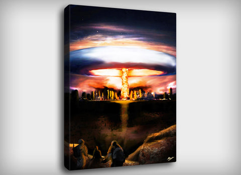 Nuclear Explosion Canvas Print, By CrownosArts