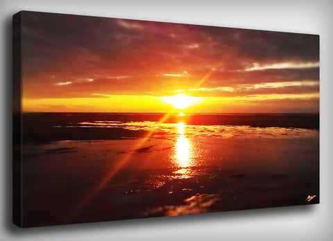 Fiery Sunset Canvas Print, By CrownosArts