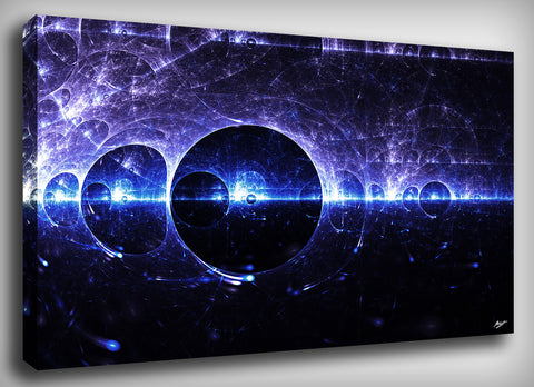 Particle Fractal Canvas Print, By CrownosArts