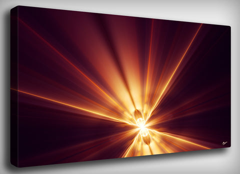 Nuclear Fusion Canvas Print, By CrownosArts