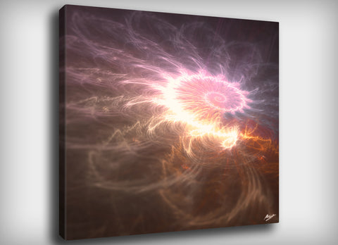 Fibonacci Fractal Canvas Print, By CrownosArts
