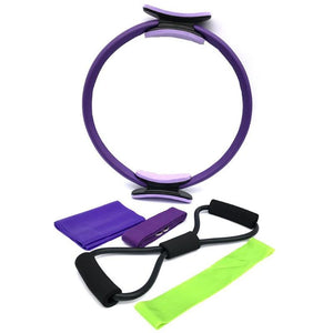 Yoga Stretch Strap 8 Word Loop Resistance Band Fitness Shaping Tool