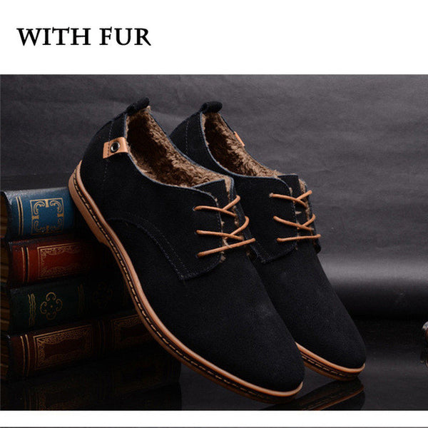 Men Luxury Leather Oxford Flat Shoes, , Stylenol- Stylenol