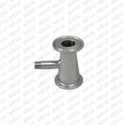 "1.5""x 1"" with 1/4"" MNPT,  Tri Clamp, Tri Clover, Sanitary, Concentric Reducer, 304 Stainless Steel"