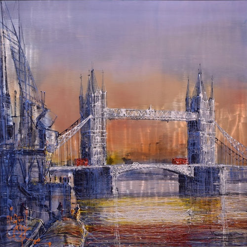 Crossing Tower Bridge by Nigel Cooke
