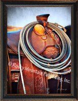 Saddle 2 – Framed Giclee Canvas by Mitchell Mansanarez