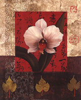 White Chinese Orchid Art Prints by Tan Chun