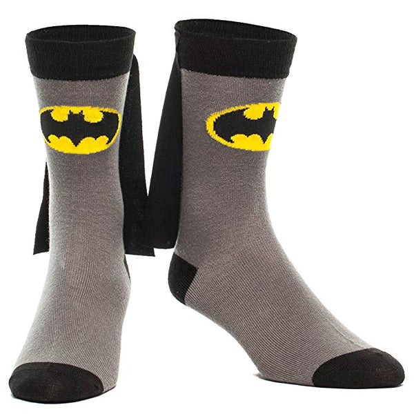 Batman Superhero Novelty Unisex Socks With Capes !