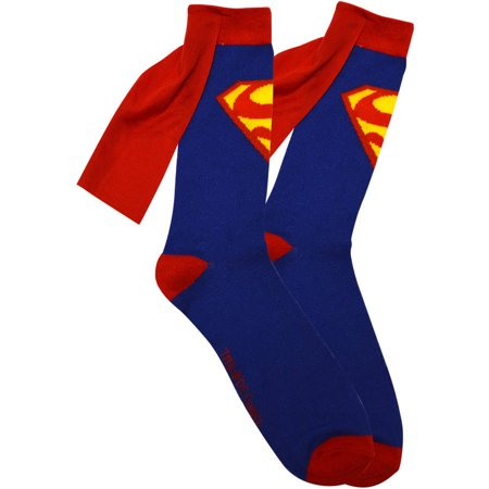 Superman Superhero Novelty Unisex Socks With Capes !