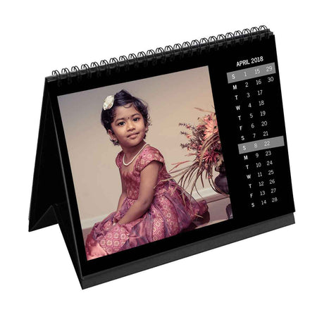 Calendars-2019 Instasquare Vertical Dates Monthly Desk Calendar-6 inches x 8 inches-Black