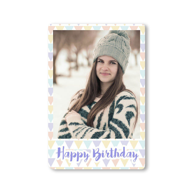 Fridge Magnets-Birthday Triangles Photo Magnet-