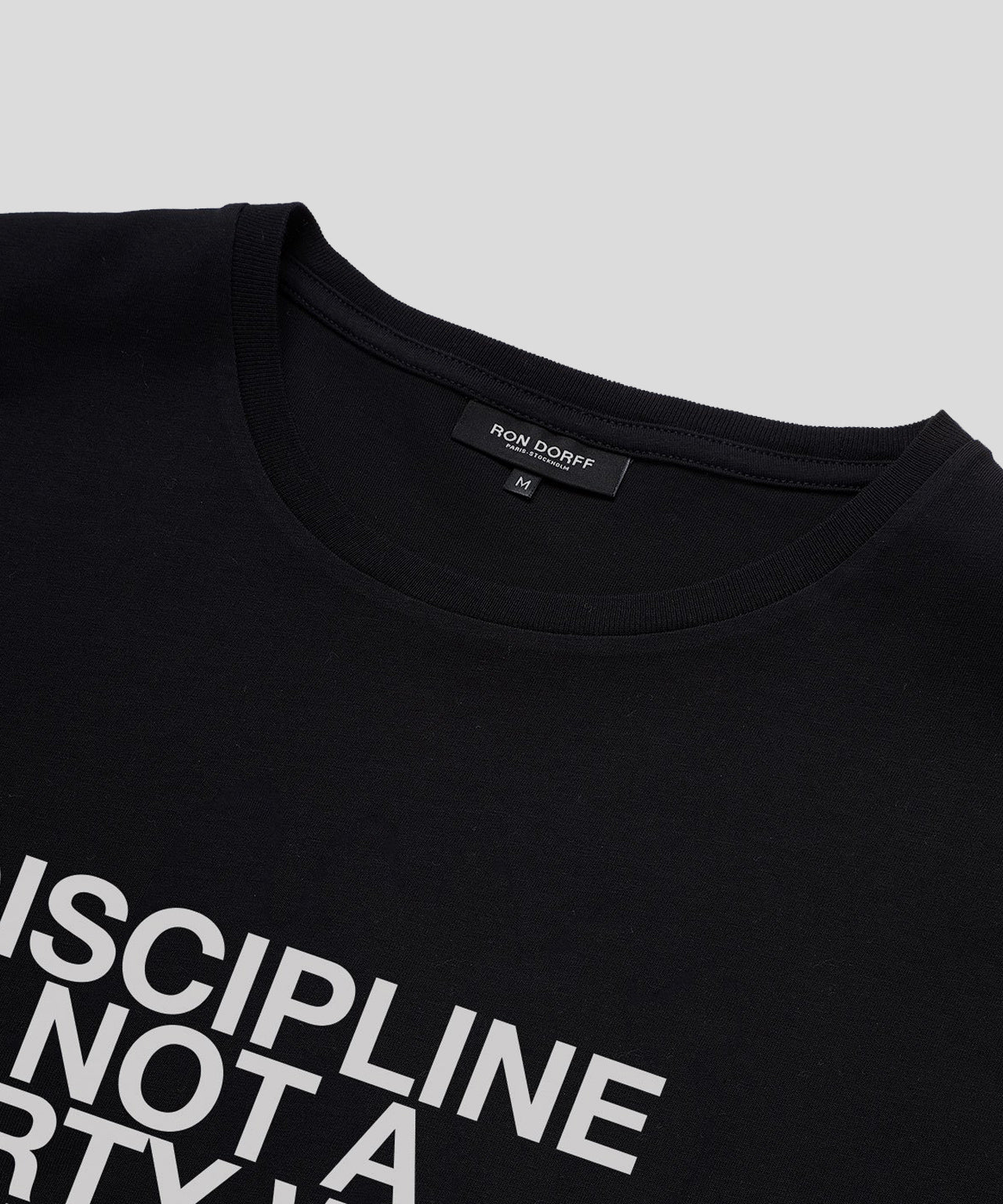 T-Shirt DISCIPLINE His For Her - black