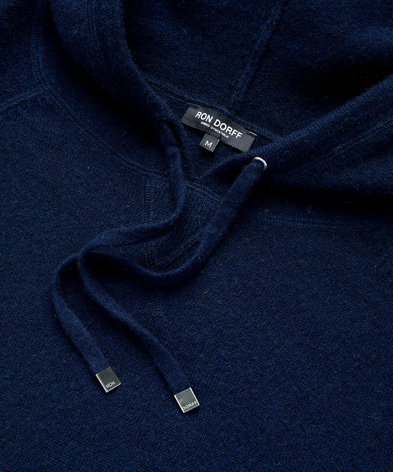 Cashmere Pullover Hoodie - navy