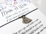 Wish Bracelet - Baby Footprint Charm. Baby Feet. Baby Shower Mum to be Gift. Choice of Colours
