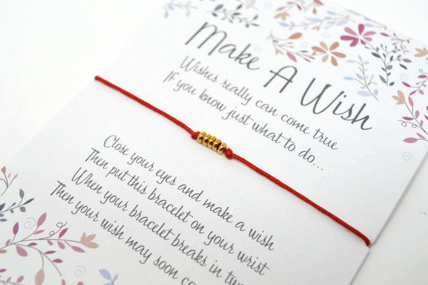 Luck Beads Wish Bracelet - Gold Luck Beads. Abacus String Bracelet. Simple Layering Mindfulness Bracelet. Choice of colours
