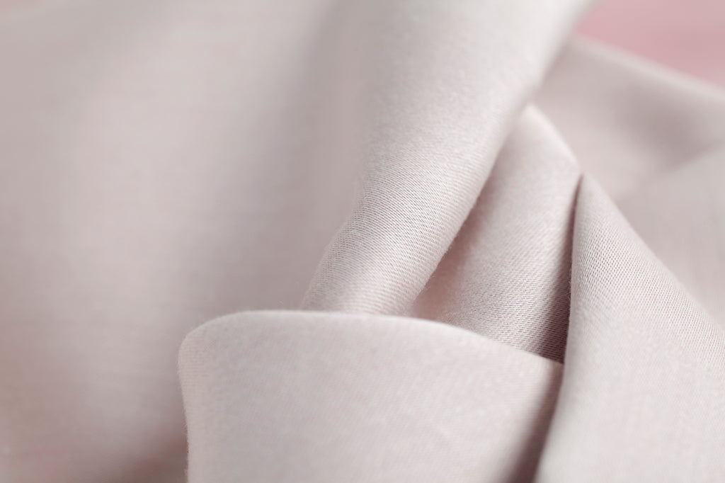 Plain Jacquard Reversible Dusty Pink Fitted Sheet