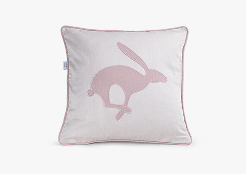 Jumping Hare Dusty Pink Light Cushion