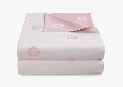 Hare Flower Dusty Pink Reversible Duvet Cover
