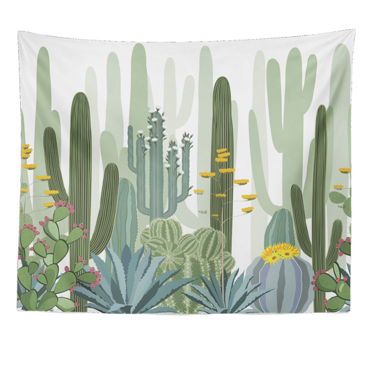 nature Wall Decor, Golden Cactus Tapestry, beautiful natural decor, nature inspired designs, best home decor, Forest Homes