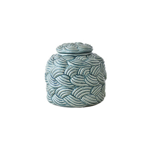 green decor jar with cover, ceramic jar, home accessories for sale  in dubai