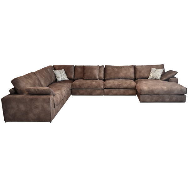 large brown fabric sofa, with corner, dubai furniture