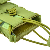 Single Molle Rifle Mag Magazine Pouch Open Top Bag For M4/M16 5.56 .223