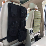 Tactical Molle Vehicle Car Seat Back Organizer Cover Protector Fits For All Cars