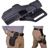 Tactical Quick Release Automatic Loading and Locking Waist/Thigh Holster for Glock