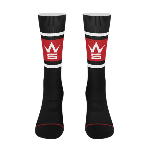 Crown Logo Black Socks