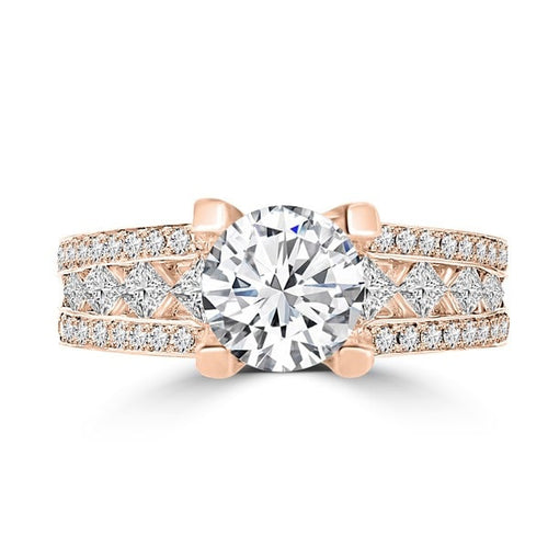 14k Rose Gold Diamond 2.00ct TDW Engagement Ring