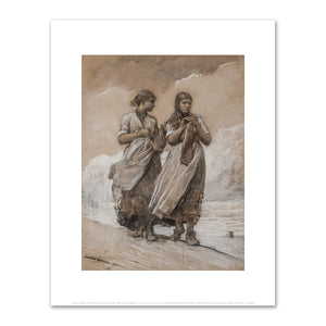 Winslow Homer, Fisher Girls on Shore, Tynemouth, 1884, Fine Art Prints in 4 sizes by 2020ArtSolutions
