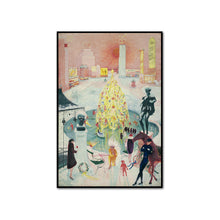 Florine Stettheimer, Christmas, artblock in 3 sizes and 2 frame colors by 2020ArtSolutions