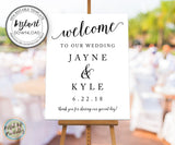 Wedding Welcome Sign Editable Template