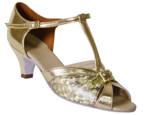 DSI PALERMO Gold Ladies Social Ballroom Shoes