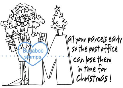 Digi stamps, clip art,funny stella christmas mail packages,Bugaboo Stamps,