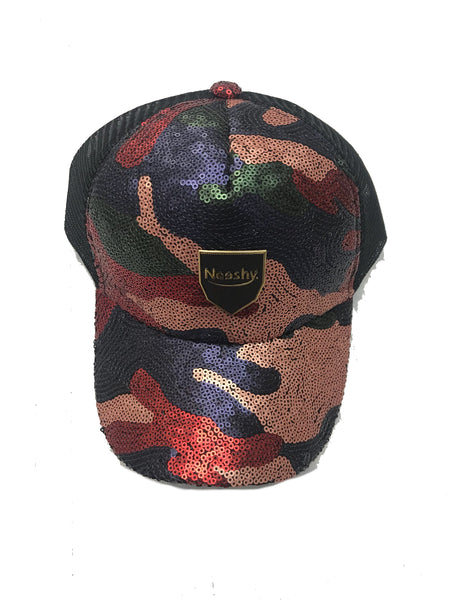 Sequins red Trackstrap Hat