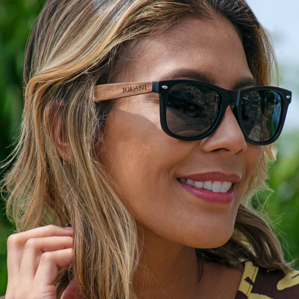 'IOLANI CLASSIC BLACK WALNUT SUNGLASSES