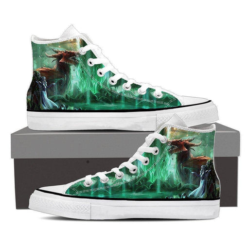 World of Warcraft Elf Dragon Fantasy Gaming Art Sneaker Converse Shoes