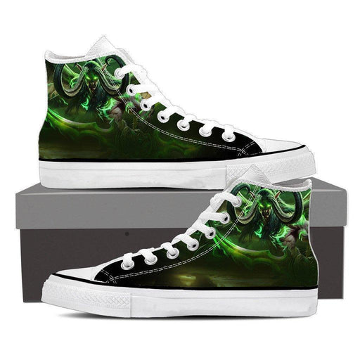World of Warcraft Illidan Demon Hunter Elf Cool Sneaker Converse Shoes